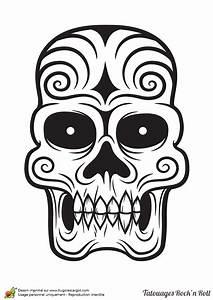 Tete De Mort Mexicaine Dessin : coloriage tatouage la t te de mort ~ Melissatoandfro.com Idées de Décoration