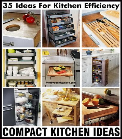 35 Ideas For Kitchen Efficiency  Compact Kitchens