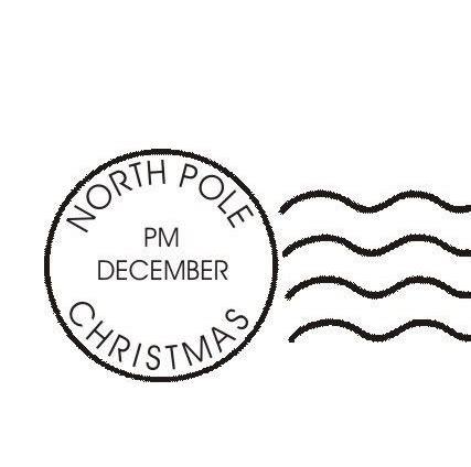 christmas template mark christmas north pole post mark clip art clip art
