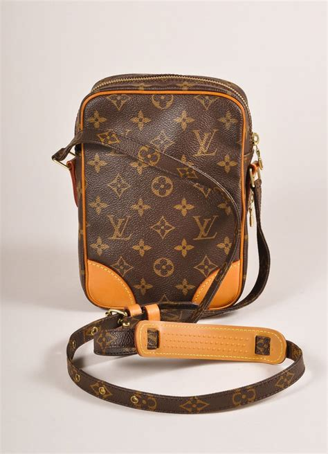 louis vuitton brown monogram canvas amazone crossbody messenger bag luxury garage sale