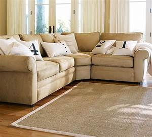 pearce upholstered 3 piece sectional with wedge pottery With pearce sectional sofa pottery barn