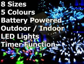 battery operated multi function outdoor led timer christmas lights cheaper online co uk