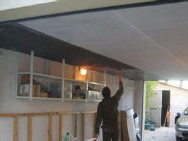 isolation d un plafond de garage avec des plaques de li 232 ge expans 233 40 mm eco logis