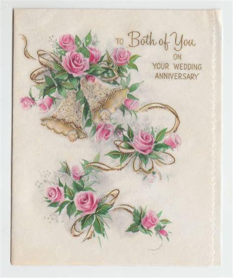 vintage glitter bell  pink rose wedding anniversary