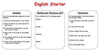 english starter activities year 5 6 by krisgreg30