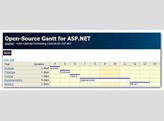 OpenSource Gantt Chart for ASPNET C#, VBNET