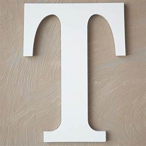 wood block letter painted white 14in t the lucky With white wooden block letters