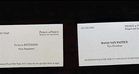 weird trivia  business cards  american psycho