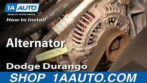 How To Install Replace Alternator Dodge Durango Dakota 9803 1aauto Youtube