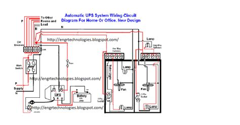 automatic ups system wiring electrical electronic