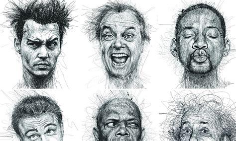 Dyslexia Artist Vince Low Scribbles Portraits Of Famous