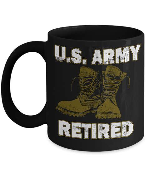 Custom coffee mugs, personalize ceramic mugs with logo. US Army Retired Coffee Mug - Retired Military Coffee Cup