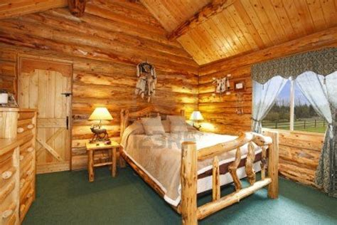 wood home interiors log cabin bedroom with antique wood idea