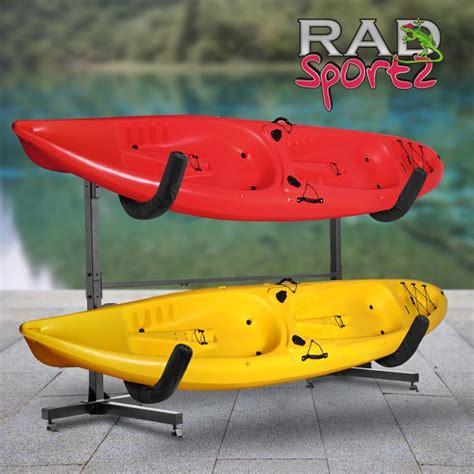 kayak racks walmart rad sportz deluxe freestanding heavy duty kayak rack two