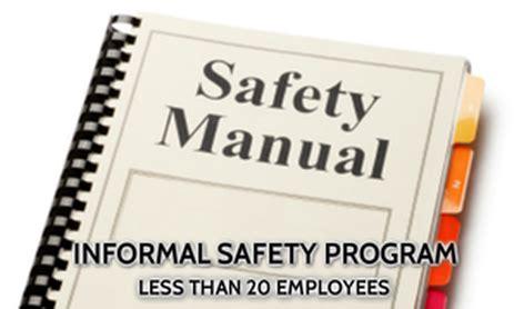 small employer safety programs manual development bc