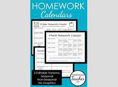 Printable Preschool Homework Calendars Preschool Teacher 101