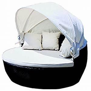 Bain De Soleil Rond : lex bain de soleil rond avec toit en aluminium et rotin synth tique format xxl jardin ~ Teatrodelosmanantiales.com Idées de Décoration