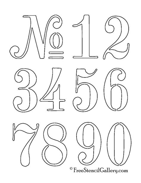 25+ Best Ideas About Number Stencils On Pinterest Number