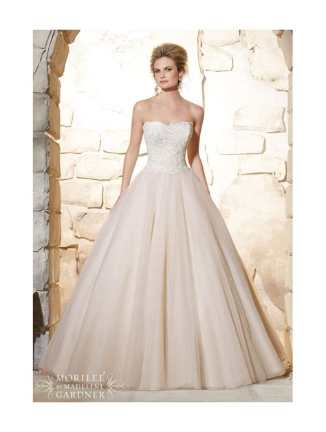 Mori Lee 2777 Classic Tulle Ball Gown Wedding Dress Ivory
