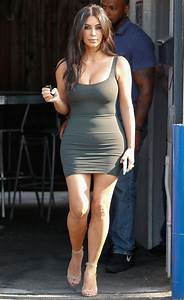 Kim Kardashian Wears Short and Tight Dress InStyle com
