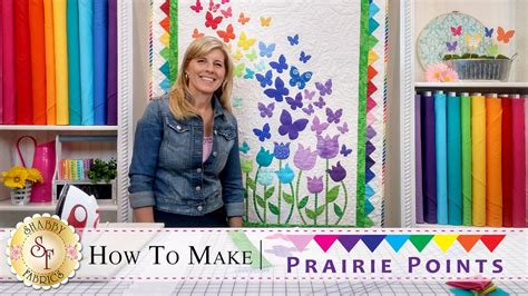 How To Make Prairie Points  A Shabby Fabrics Quilting