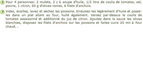 cuisiner du mulet recette mulet au four facile et rapide