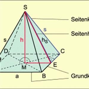 Quadratische Pyramide A Berechnen : pyramide in mathematik sch lerlexikon lernhelfer ~ Themetempest.com Abrechnung