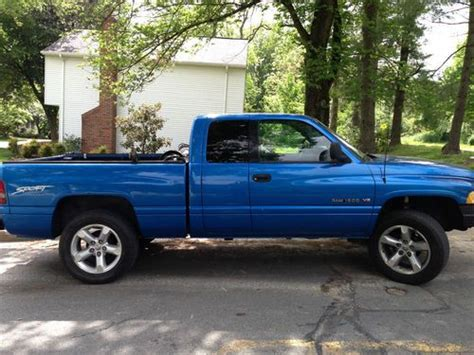 1998 Dodge Ram 1500 Sport by Purchase Used 1998 Dodge Ram 1500 Sport 4x4 5 2 V8 Blue In