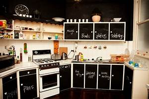 Chalkboard wall ideas to create a unique interior for Best brand of paint for kitchen cabinets with funny stickers for facebook