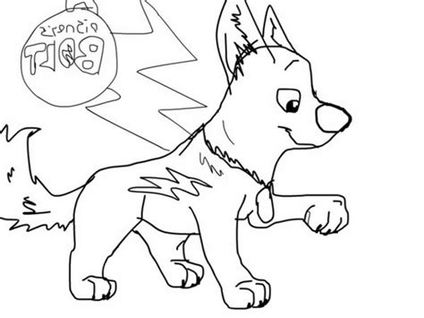 Bolt Coloring Page - Costumepartyrun