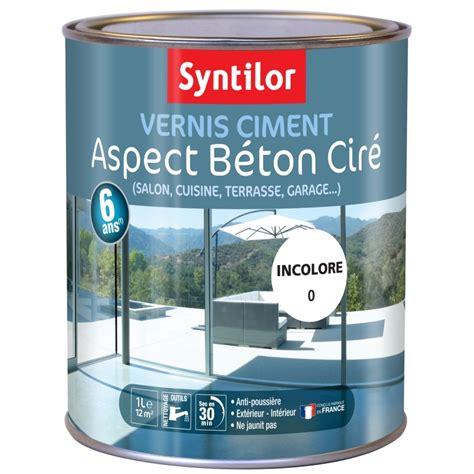 vernis pour carrelage exterieur vernis pour ciment et b 233 ton syntilor incolore 1l peinture multi supports peinture ext 233 rieur