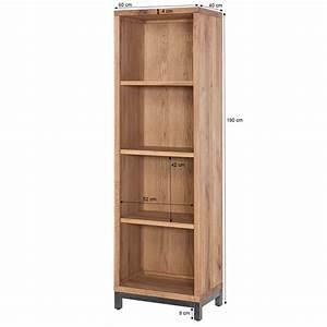 Regal 120 X 60 : regal bestano 60 x 40 x 190 cm eiche massivholz ~ Bigdaddyawards.com Haus und Dekorationen