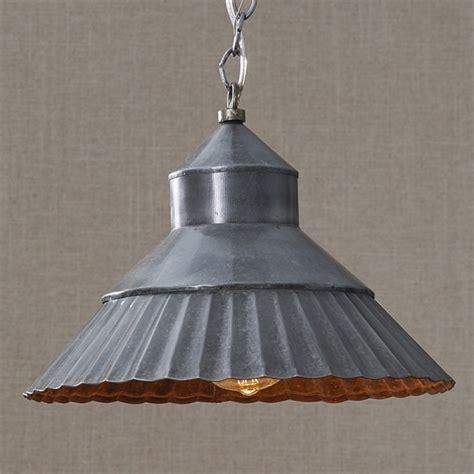 galvanized crimp pendant light