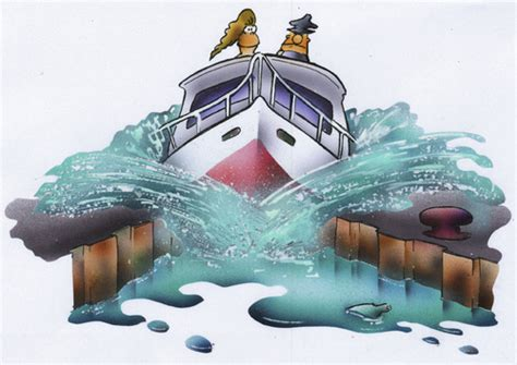 Cartoon Canal Boats by On The Canal By Hsb Cartoon Sports Cartoon Toonpool
