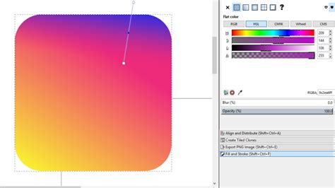 recreating  instagram icon  inkscape fraphic
