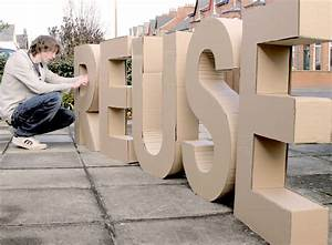 3d cardboard letters chris dunlop With giant stand up letters