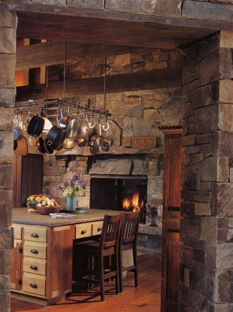 cozy kitchens  fireplaces
