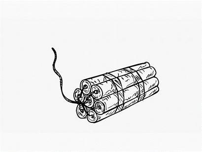 Dynamite Tnt Exploding Drawing 2d Animation Stick