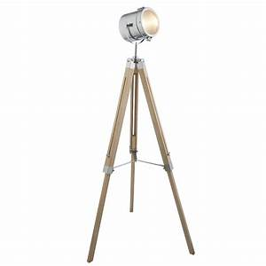 verve harrison floor lamp chrome timber bunnings warehouse With led floor lamp bunnings