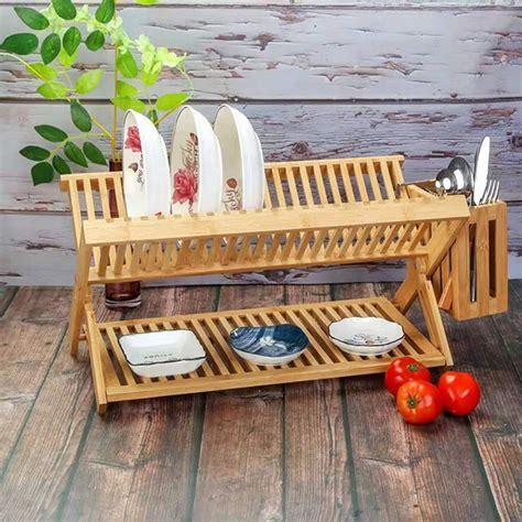 bambu dish rack bamboo kitchenware  utensil holder buy bamboo kitchenwaredish rack bamboo