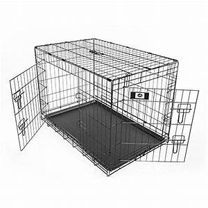 Pet champion deluxe 36 inch folding portable 2 door wire for 36 inch dog crate with divider