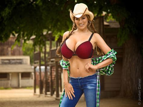 The Western Booby Delight Of Jordan Carver Cowgirl