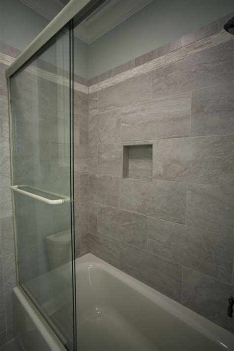 12x24 Tile Bathroom by Custom Shower With 12 X 24 Tiles Custom Showers