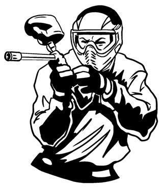 paintball player silhouette  getdrawingscom