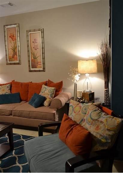 Teal Orange Living Accent Decorating Schemes Colors