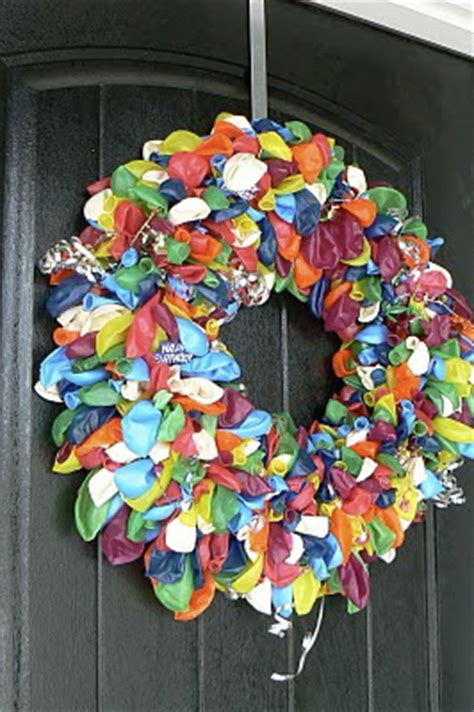 creative ideas   happy birthday door wreath