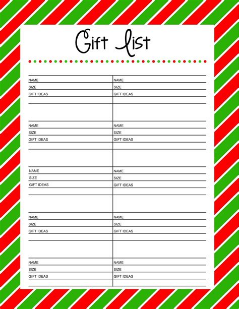 wish list in exchange gift list templates portablegasgrillweber