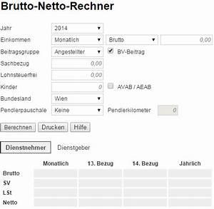Lohn Berechnen Netto : nettolohnrechner 2015 b rozubeh r ~ Themetempest.com Abrechnung