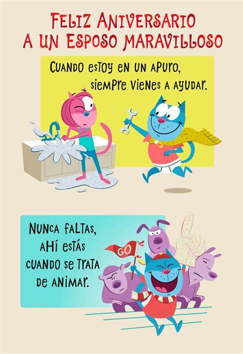 amazing husband spanish language anniversary card