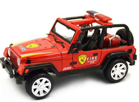 kids red jeep 1 24 scale kids red white green diecast jeep wrangler